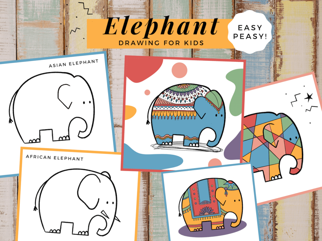 Elephant Drawing for Kids - The Fairy Glitch Mother